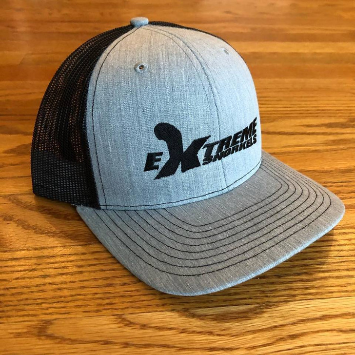 Extreme Snorkels Snapback Hat - Heather Grey/Black