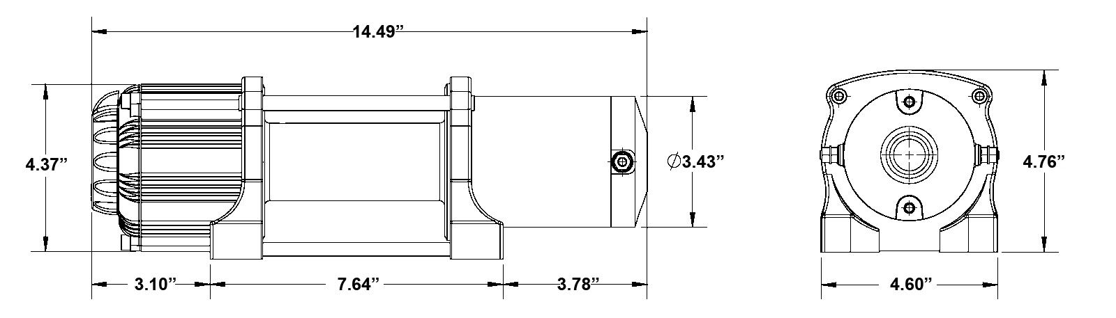 SuperATV 4500 LB Winch