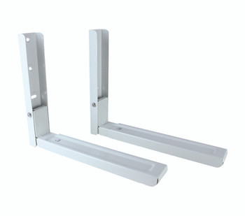 Supports micro-ondes blancs avec bras extensibles - Large