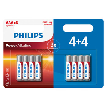 Piles alcalines Philips Power - 4 Pack promotionnel [PH056]