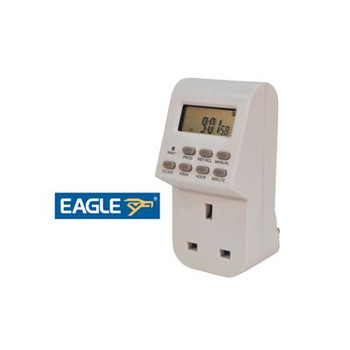 Minuterie programmable hebdomadaire Eagle 13A Plug-In