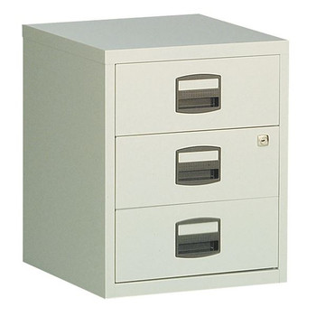 Bisley A4 Mobile Home Filer 3 Drawer Grey BY13461