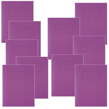 Silvine Feint Ruled With Margin Purple 229x178mm Cahier d'exercices 80 Pages (Lot de 10) EX100