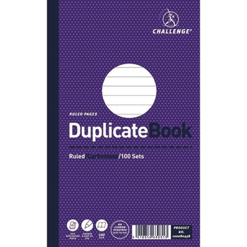Challenge Duplicate Book Ruled Carbonless 100 Sets 210 x 130mm (Pack of 5) 100080458