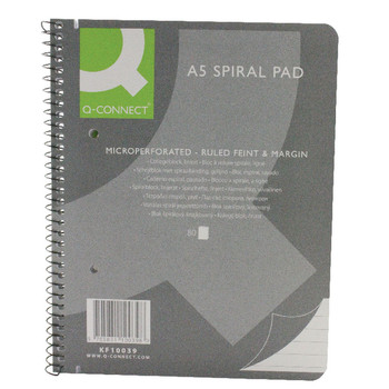 Q-Connect A5 Spiral Exec Pad 80Lf Ruled