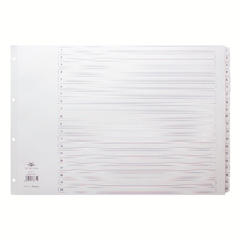Concord A3 Index 1-20 Board Clear Tabs