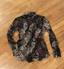 Black Coral Reef Show Blouse BACK