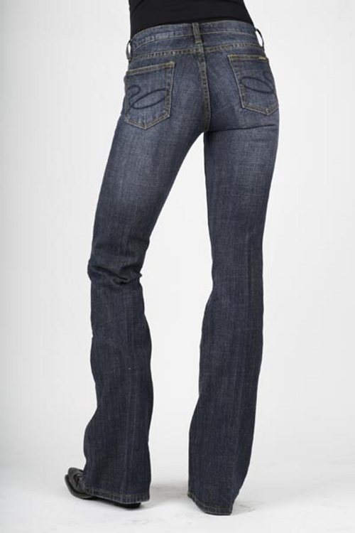 816 Classic Boot Cut Jean    Sits Low On The Waist   Dark Wash   Slim Fit Thigh