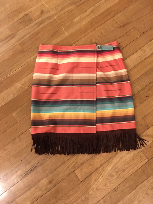 Sunset Orange Serape Skirt FRONT