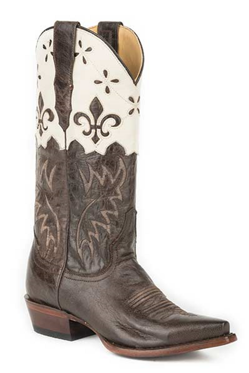 Harper White Leather Cowboy boot
