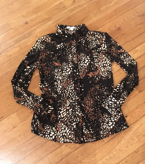 Black Coral Reef Show Blouse FRONT