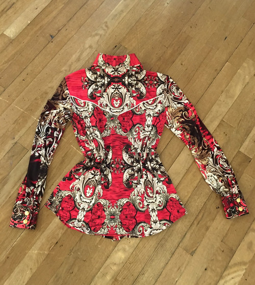 Back of Red Paisley Blouse