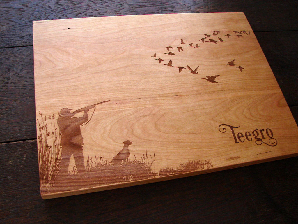 Duck hunting Personalized cutting board by TheCuttingBoardShop