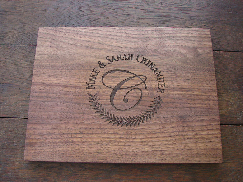 Anniversary, monogram cutting board