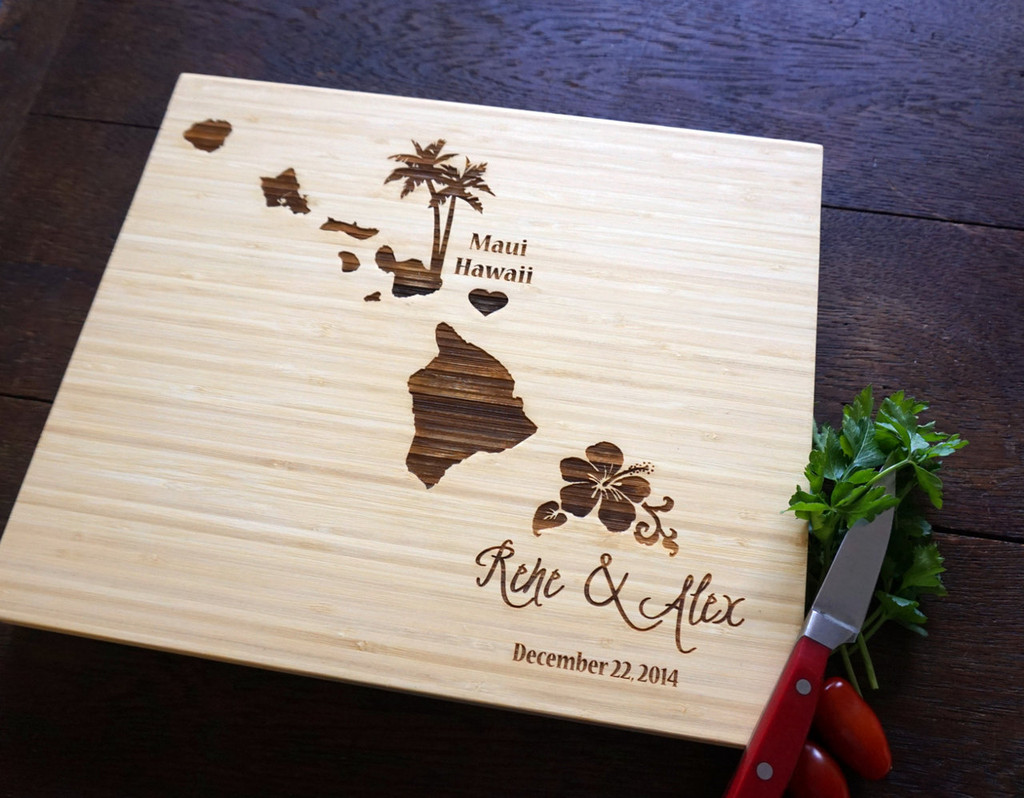 Destination Hawaii cutting board by TheCuttingBoardShop