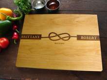 Tied the knot wedding cutting board by TheCuttingBoardShop