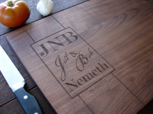 Monogram cutting board by TheCuttingBoardShop