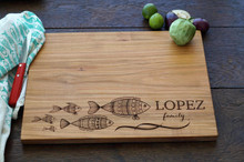 Tropical fish family by TheCuttingBoardShop