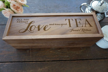 Personalized tea box from TheCuttingBoardShop