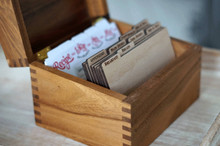 Wood dividers for recipe box