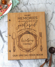 Personalized recipe book binder by TheWoodMaid