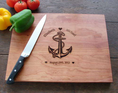 Anchor cutting board by TheCuttingBoardShop