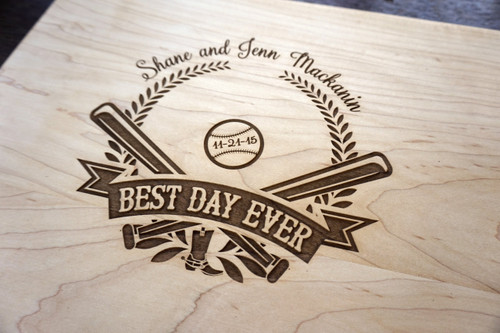 Baseball custom cutting board by TheCuttingBoardShop