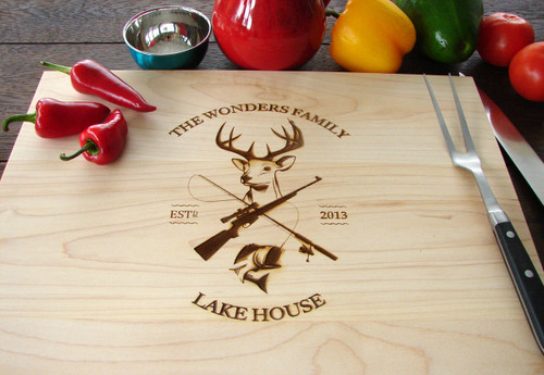 Fishing hunting cutting board by TheCuttingBoardShop