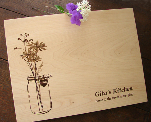 Wildflower cutting board by TheCuttingBoardShop