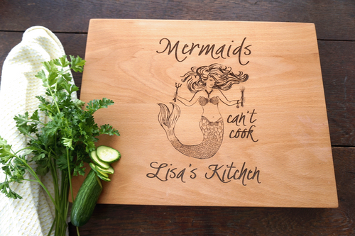 Mermaid cutting board by TheCuttingBoardShop