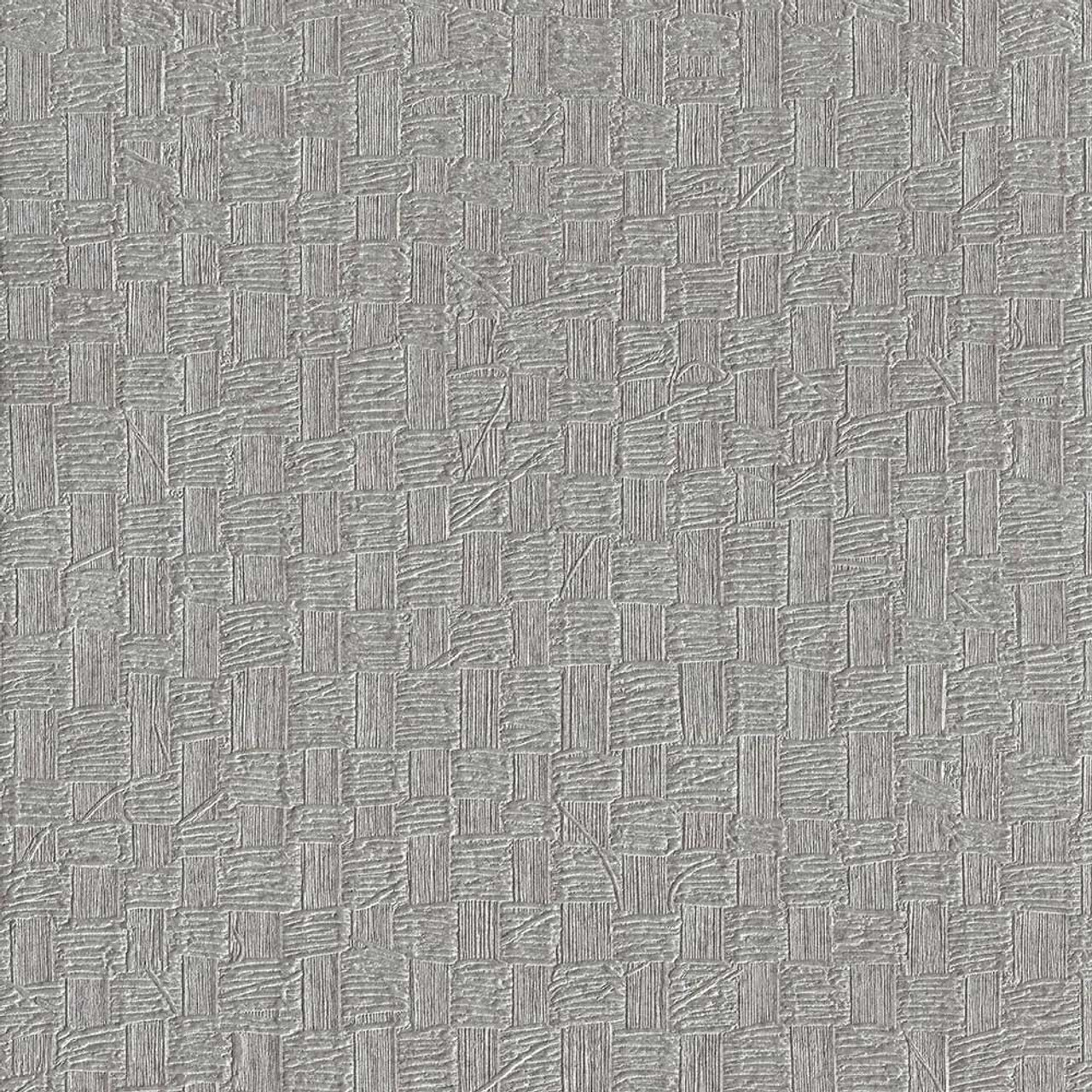 Woven Basket Wallpaper Metallic Gray