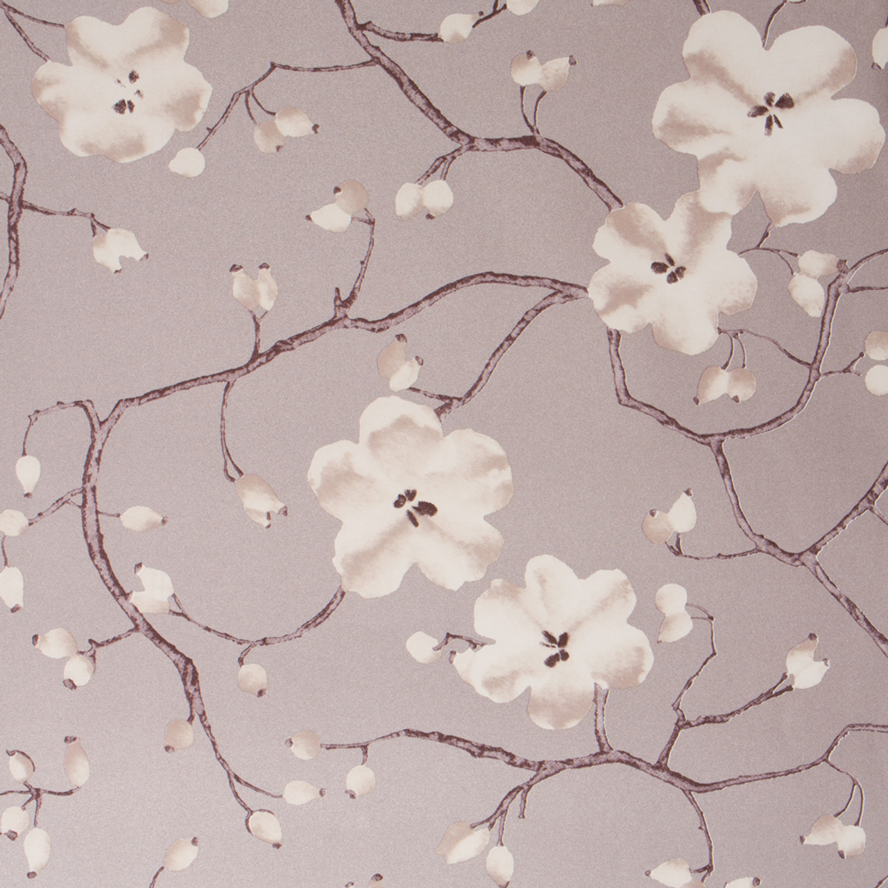 Blooming Blossom Wallpaper Taupe