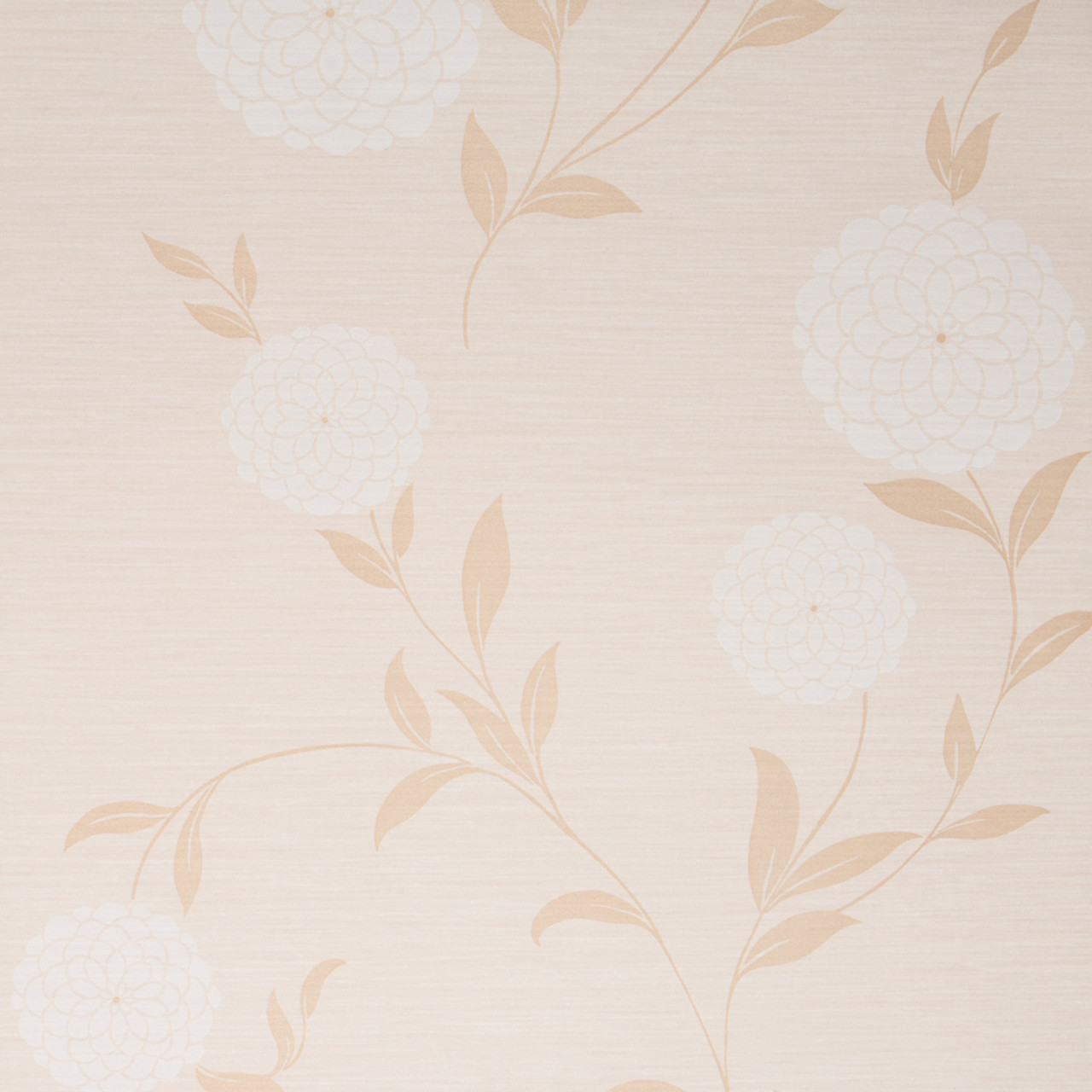 Pom Pom Wallpaper Beige White