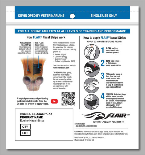 FLAIR Strips Package Back How to apply without the enclosed Positioning Guide