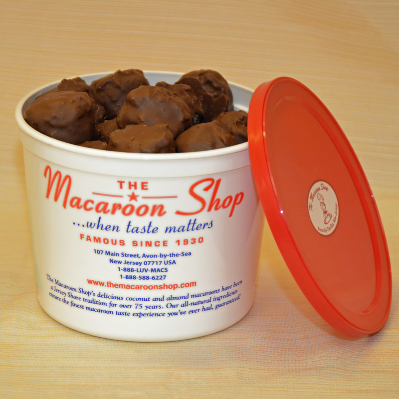 Gourmet Chocolate-Covered Coconut Macaroons 1 lb Tub