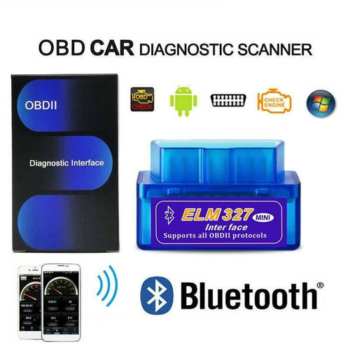 EXTNIX 2020 ELM327 OBDII OBD2 Bluetooth Car Scanner Torque Android CAN Auto Scan Tool