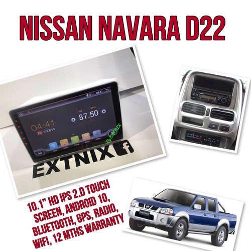 EXTNIX Nissan Navara D22 2004- 2014  Android 10 GPS Bluetooth USB Car Player Navigation Radio Stereo