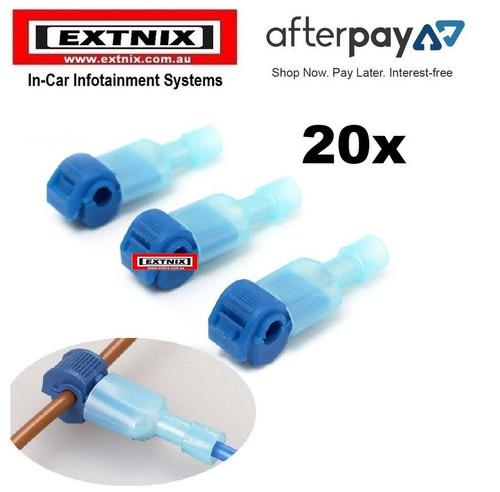 EXTNIX 20 X BLUE QUICK SPLICE WIRE CONNECTORS TERMINAL ELECTRICAL AUTOMOTIVE