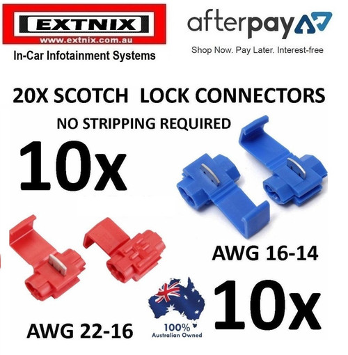 EXTNIX 20pcs Wire Connector Scotch Quick Splice Red and Blue Wire Terminals Electrical Automotive