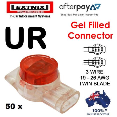 EXTNIX 50 x UR Twin Blade 2 - 3 Wire Scotchlock Scotch Lock Gel Filled Crimp Connector