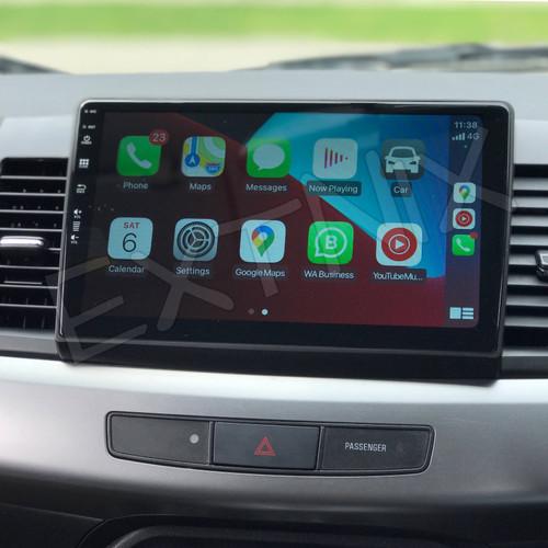 EXTNIX Mitsubishi Lancer CJ Apple CarPlay Android Auto Infotainment System Rockford Compatible