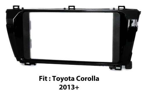 EXTNIX - TOYOTA CAR STEREO DOUBLE DIN FASCIA PANEL TO SUIT TOYOTA Corolla Sedan 2013 - 2016