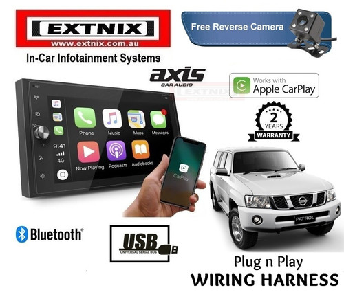 Axis Carplay Nissan Patrol GU Series GPS Navigation USB Bluetooth Infotainment System