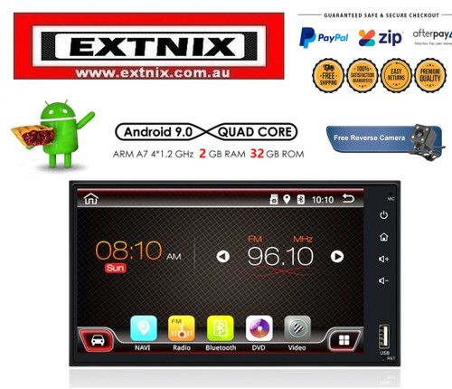 "EXTNIX Android 8.1 Quad Core 2GB + 32GB 7"" HD Double Din Car Stereo Radio GPS Bluetooth WiFi"