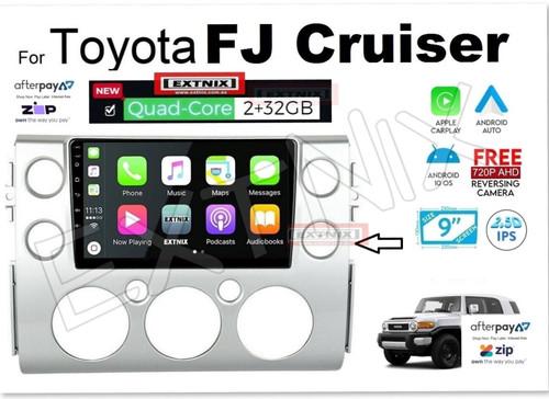 EXTNIX Toyota FJ Cruiser Apple CarPlay Android Auto Multimedia Infotainment System Upgrade Silver