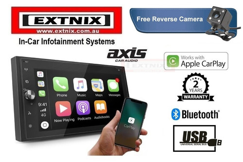 "Axis AX1870CP 6.8"" Apple CarPlay Mechless Multimedia System"