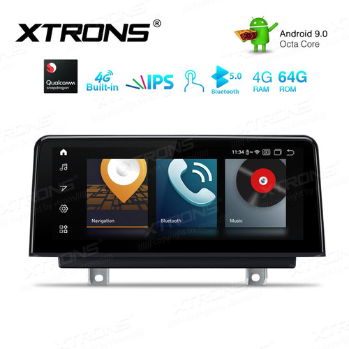 10.25-inch Car Android Multimedia Navigation Apple CarPlay Android Auto System with Built-in 4G for BMW 3 Series F30/F31/F34 & 4 Series F32 F33 F36 NBT