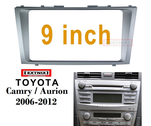 """EXTNIX TOYOTA CAMRY Aurion 2006-2011 Fascia Frame for 9"""" Android Stereo"""