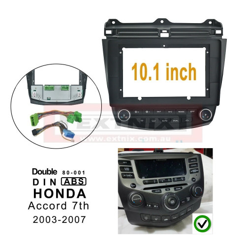 """EXTNIX Honda Accord 7th Gen 2003-2007 Fascia Frame for 10.1"""" Android Systems"""
