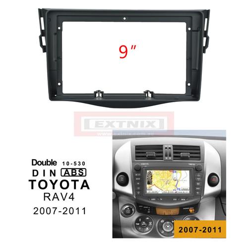 EXTNIX - 9 Inch Car Radio Fascia For TOYOTA RAV4 2007-2012 car dvd frame Kits Audio Fitting Adaptor Panel in-dash Mount Installation